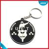 Round embossed keyring Fashion custom soft pvc rubber keychain