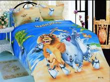 hot-selling cartoon bed sheet set 100 cotton kids bedding set,lion king