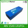 Lithium battery 15Ah e-bike battery 48v