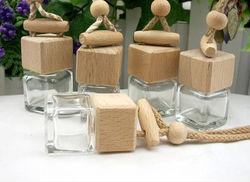 empty perfume bottle/5ml square shaped car air freshener/car pendant
