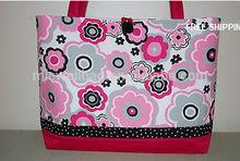 New Handmade Spring Flower Printed Purse Tote Bag Gift Bag Shopping Bag