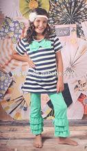 Boutique little girl fall 2014 clothing sets children's frozen ruffle pants cotton sets kid clothes hot sale suppliers