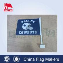 car flag sticks,plastic car window flag poles for FL NCAA,hanging car flag
