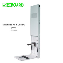 wall-mounted metal structure multi-functonal educational combo for schools