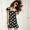 Temperament Collar Polka Dot dot chiffon dress,my choice dresses