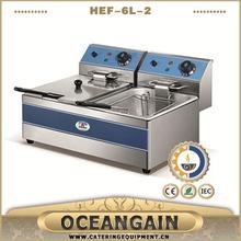 HEF-6L-2 stainless steel deep fryer for fried chicken hot sale