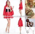 instyles fornitore porcellana costume di cappuccetto rosso party dress costume di fantasia costume adulto