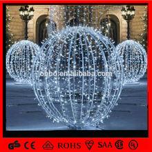 white large outdoor christmas balls/led 3D ball lights