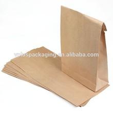 custom printed kraft paper bags without handle