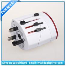 Shenzhen Dual Spirits Technology White Red LED Light european to uk plug adapter