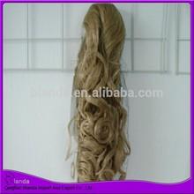 Kanekalon fiber ponytail wrap around synthetic hair ponytail