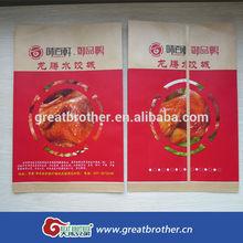 Food shop used chicken kraft paper bag with inside lamination/paper bag for Roast duck