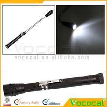 Aluminum Stretchable LED Torch Flashlight Light w/Magnetic Ring