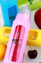 Hot sale Borosilicate Baby Glass Feeding Bottle free baby bottle samples 2014