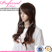 2014 Amazing high temperature synthetic wig with bang for american