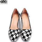 2014 latest fancy fashion ladies thick heel dress girl shoe squared heels