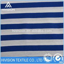In Season Amazing quality geometric navy blue and white stripe fabric