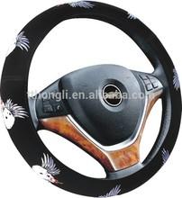 factory manufacture 2014 car accessori unique cool PU material car unique steering wheel cover handle cover