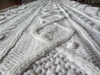 50DA84 hand pompon luxury cable knit acrylic throw blanket for bedding, sofa,outdoor, and furniture, wedding using