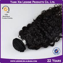 Good feedback black high quality ali express curly malaysian hair weft\