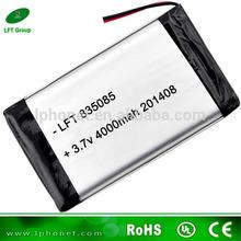 in stock 835085 li-polymer 4000mah battery for tablet PC