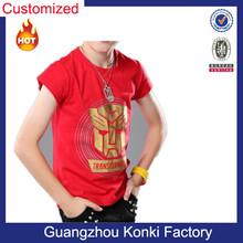 OEM Fashion kids t shirt for boy with Transformers printing