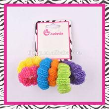 rainbow ponytail holder, simple elastic metal free hair band
