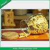 New design hot sale 2014 glass bottles wood cork top