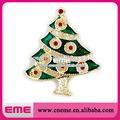 vert arbre de noël avec diomand strass broche pour la décoration de noël