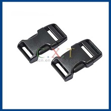Luggage Strap Belt Clip Plastic Side Release Buckles 20mm - Black (2-Pieces Pack)