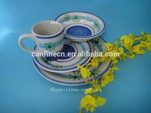hot sale cheap stoneware hand painted dinnerware, household handpainted dinner set,