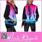 Wholesale western 3D denim jacket women cheap