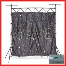 HOT WLK-1W Black fireproof Velvet cloth white leds star backdrop nightclub decoration stage background
