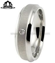 2014 latest design matt finished stainless steel rings