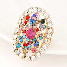 Full Diamond Ring at Flower Design Alloy Material Inlay with Diamond For Women
