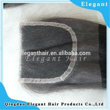 Elegant very popular 6a grade unprocessed virgin human brazilian free shipping parting lace closure