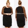 alibaba fornecedor outono leopardo senhoras vestem roupas elegantes para mulheres gordas