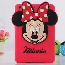 Cute Minnie Mickey Mouse Cartoon Soft Silicone Protective Case for iPad mini 1 2