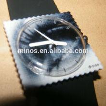 new stamp design silicone quartz square watch dial