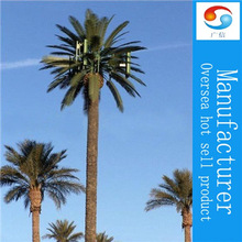 Park, square, hotel, station used palm tree GPS antenna tower