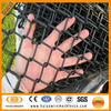 Best price high quality black poly coated chain link fence