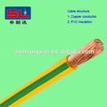 Verde amarelo cabo de aterramento/fio terra/cabo de terra