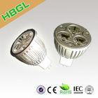 AC 110V 220V 1w 3w 4w 5w 7w ip44 warranty 3 years ip44 CE ROHS 3w led bulb gu10