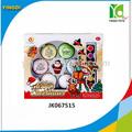 การศึกษาของเล่นdiyของเล่นคริสต์มาสที่มีสีสันภาพวาดไข่/diyของเล่นวาด