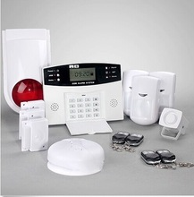 Seguridad alarmas!!!wireless home alarm security system kit with Blue LCD screen with time clock and alarm status display.