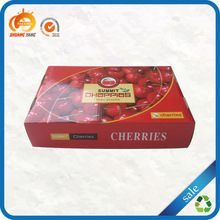 High quality color printed customized corrugated cherry packaging box