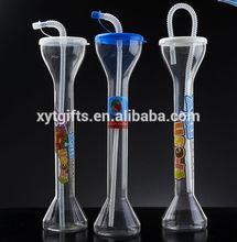 Sedex Walmart China Manufacture Custom 17oz 20oz novelty slush cups,yard of beer glass,led flashing yard cup