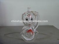 empty crystal Custom made Glass/Logo customized square decorative empty glass liquor bottle for sale