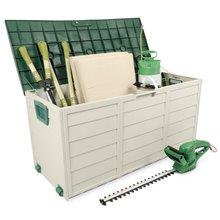outdoor storeage compartment, garden storage bin, garden storage box