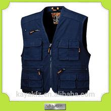 custom made navy blue Hi-vis motorcycle safety vest